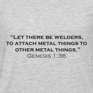 The Creation of Welders - Men's Premium Long Sleeve T-Shirt