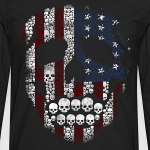 American skull stencil T-Shirts - Men's Premium Long Sleeve T-Shirt