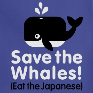 Save the Whales! Eat the Japanese T-Shirts - Adjustable Apron
