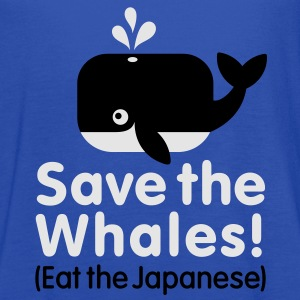 Save the Whales! Eat the Japanese T-Shirts - Women's Flowy Tank Top by Bella