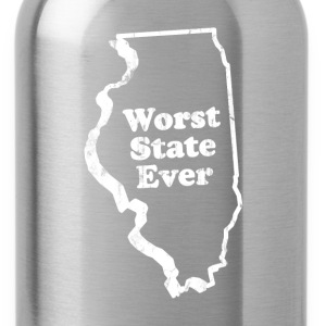 ILLINOIS - WORST STATE EVER T-Shirts - Water Bottle