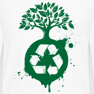 Green Recycle - Men's Premium Long Sleeve T-Shirt
