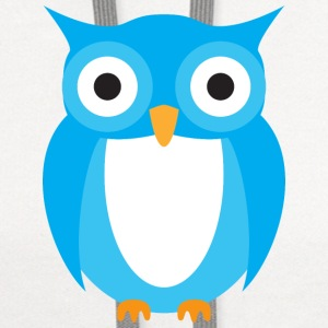 Blue Owl Cartoon T-Shirts - Contrast Hoodie