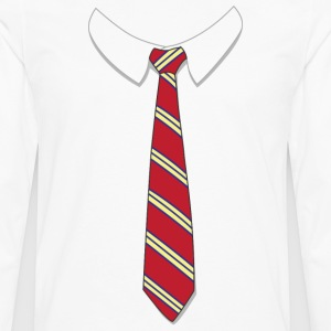 Fake Tie Shirt - Men's Premium Long Sleeve T-Shirt
