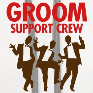 Groom Support Crew 1 (2c)++ T-Shirts - Contrast Hoodie
