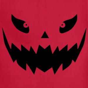 Really scary Halloween pumpkin face vector T-Shirts - Adjustable Apron