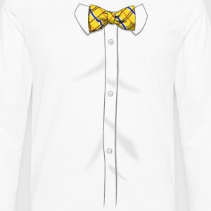Bow Tie Shirt - Men's Premium Long Sleeve T-Shirt