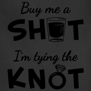 Buy Me A Shot - Silver Glitter Print - Adjustable Apron