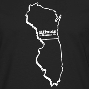 WISCONSIN - ILLINOIS IS BENEATH US T-Shirts - Men's Premium Long Sleeve T-Shirt