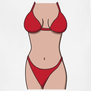 Bikini Shirt Red - Adjustable Apron