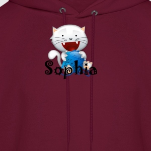 Sophia cute little white kitten girls shirt Kids'  - Men's Hoodie