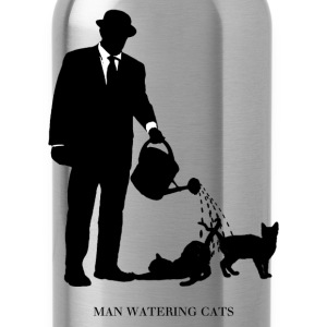 Man Watering Cats - Water Bottle