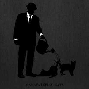 Man Watering Cats - Tote Bag