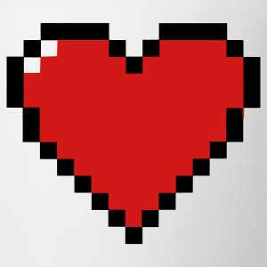 Pixel Nerd Heart T-Shirts - Coffee/Tea Mug