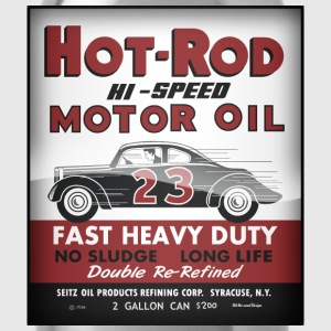 Hot-Rod Motor Oil vintage tin can reproduction - Water Bottle