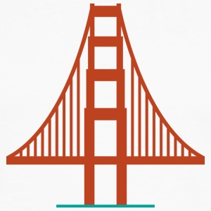 San Francisco Golden Gate Bridge Logo Shirt - Men's Premium Long Sleeve T-Shirt