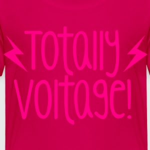 totally voltage with lightning bolts! awesome new  Kids' Shirts - Toddler Premium T-Shirt