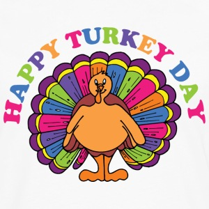 Happy Turkey Day T-Shirt - Men's Premium Long Sleeve T-Shirt