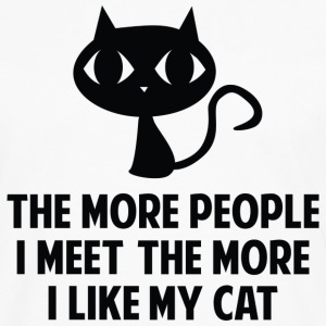The More I Like My Cat - Men's Premium Long Sleeve T-Shirt