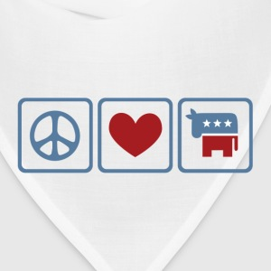 Peace, Love, Democrat - Bandana