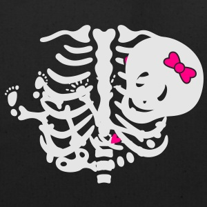 Maternity Girl Skeleton w/heart MP Women's T-Shirt - Eco-Friendly Cotton Tote