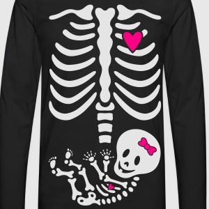 Maternity Girl Skeleton w/heart MP Women's T-Shirt - Men's Premium Long Sleeve T-Shirt