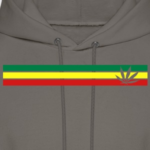 jamaica, hemp, grass smoke pot, joint, dowel, , T-Shirts - Men's Hoodie