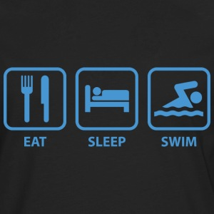 Eat Sleep Swim - Men's Premium Long Sleeve T-Shirt