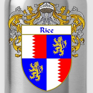Rice Coat of Arms/Family Crest - Water Bottle