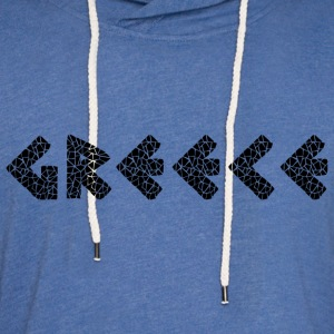 Greece Black T-Shirts - Unisex Lightweight Terry Hoodie