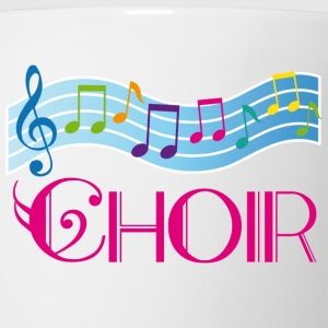Choir Colorful Music Staff Women's T-Shirts - Coffee/Tea Mug
