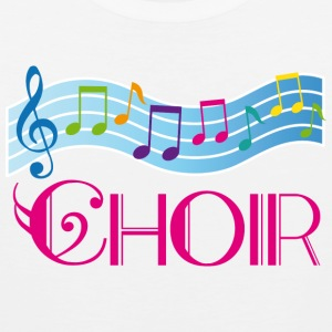 Choir Colorful Music Staff Women's T-Shirts - Men's Premium Tank