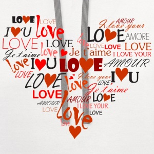 Love Heart Women's T-Shirts - Contrast Hoodie