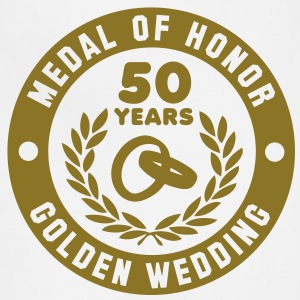 MEDAL OF HONOR 50th GOLDEN WEDDING T-Shirt - Adjustable Apron