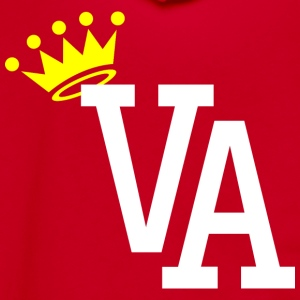 King of Virginia Mens Crewneck Tee Shirt by AiReal - Unisex Fleece Zip Hoodie by American Apparel