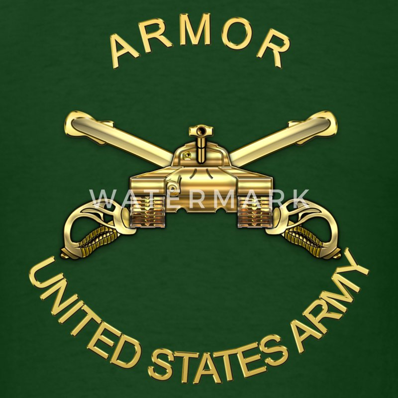 Armor Branch Insignia - Men's T-Shirt
