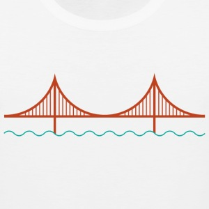 San Francisco Golden Gate Bridge Logo Shirt - Men's Premium Tank