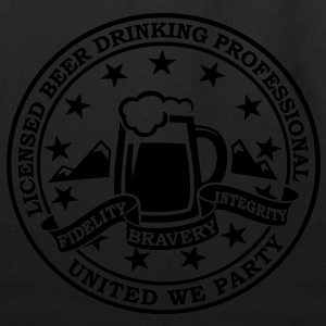 Funny i love beer alcohol drinking license badge t-shirts for drunk clubbing stag partying st patrick keg frat party T-Shirts - Eco-Friendly Cotton Tote