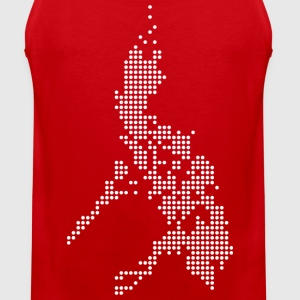 Philippines Digital Map Tee Shirt by AiReal  - Men's Premium Tank