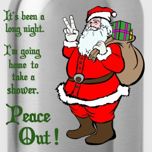 Peace Out Santa - Water Bottle