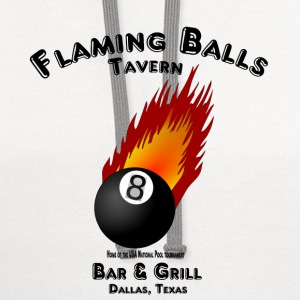 Flaming Balls Tavern, Bar & Grill,  Dallas Texas T-Shirts - Contrast Hoodie