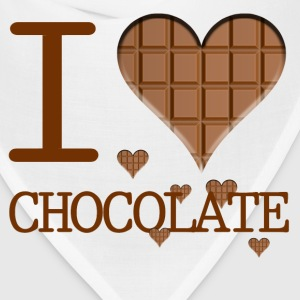 I Heart Chocolate i love chocolate - Bandana