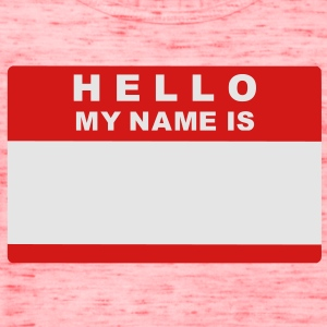 Hello my name is Kids' Shirts - Women's Flowy Tank Top by Bella