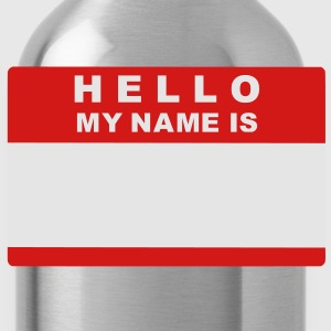 Hello my name is Kids' Shirts - Water Bottle