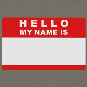 Hello my name is Kids' Shirts - Men's Premium Long Sleeve T-Shirt