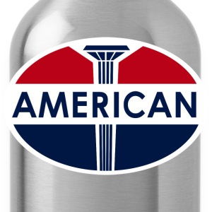 American Gas Station sign. Flat and clean version - Water Bottle