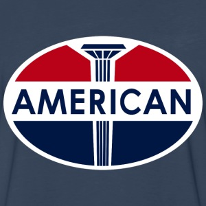 American Gas Station sign. Flat and clean version - Men's Premium Long Sleeve T-Shirt