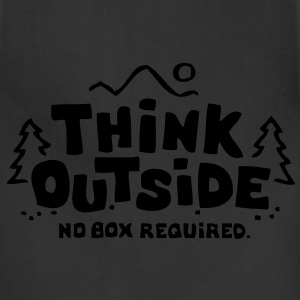 Think Outside - No Box Required T-Shirts - Adjustable Apron