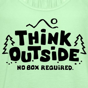 Think Outside - No Box Required T-Shirts - Women's Flowy Tank Top by Bella