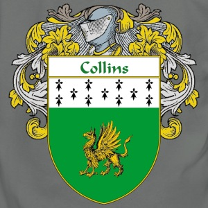 Collins Coat of Arms/Family Crest - Unisex Fleece Zip Hoodie by American Apparel